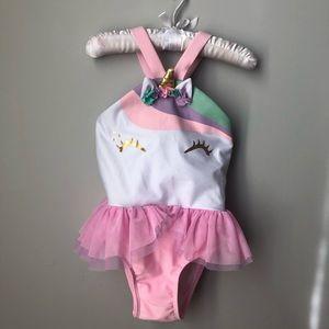 Magical, unicorn one piece bathing suit